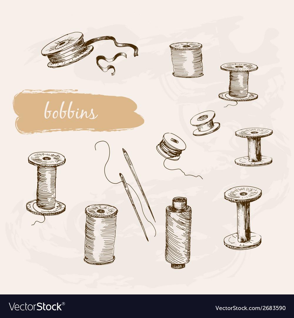 Bobbins vector | Price: 1 Credit (USD $1)