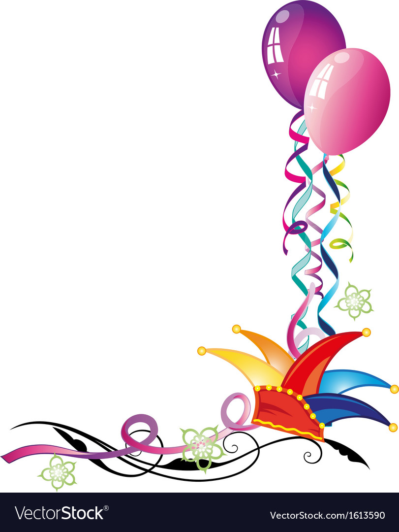 Carnival hat balloons vector | Price: 1 Credit (USD $1)