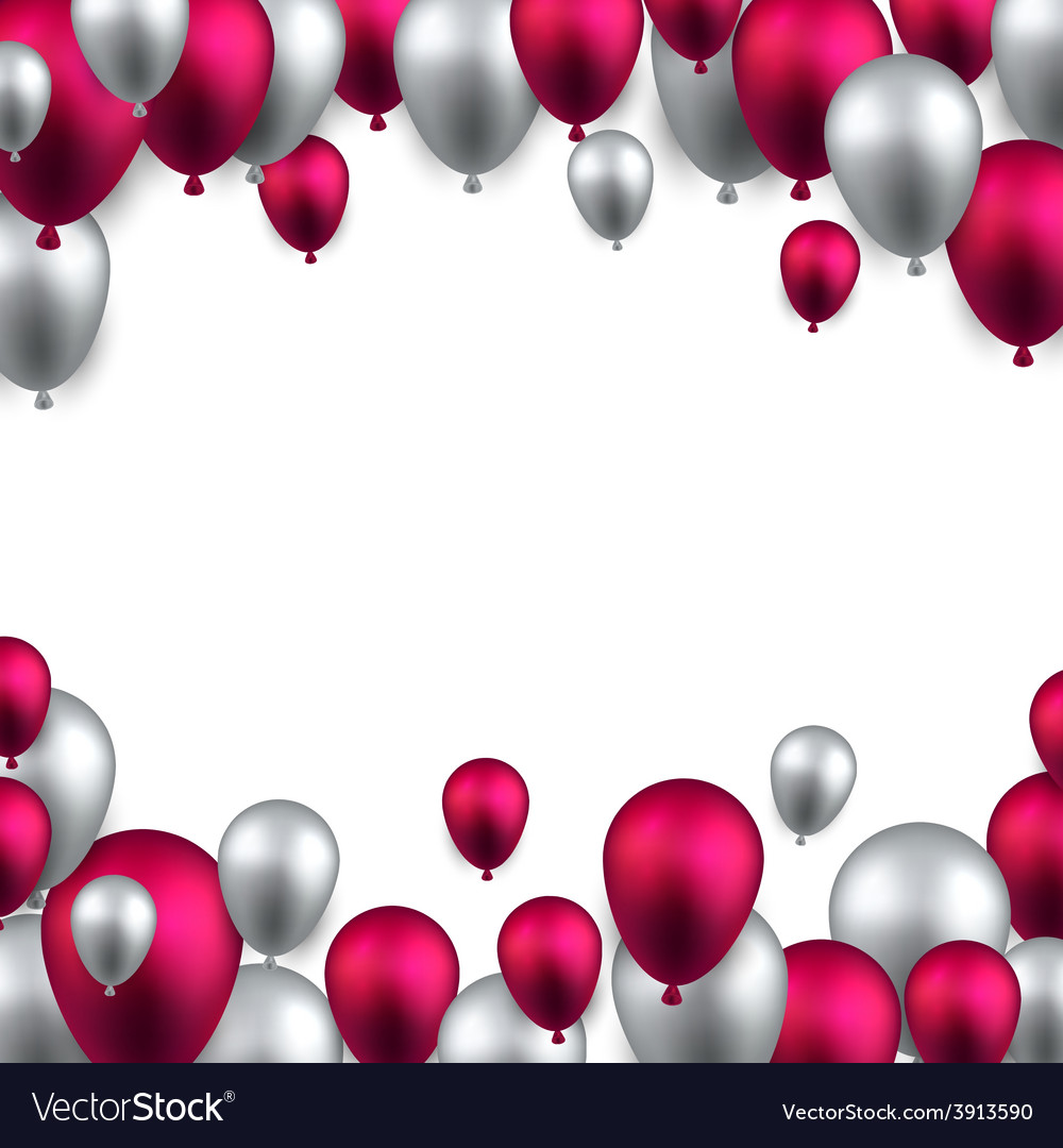 Celebrate frame background with balloons vector | Price: 1 Credit (USD $1)