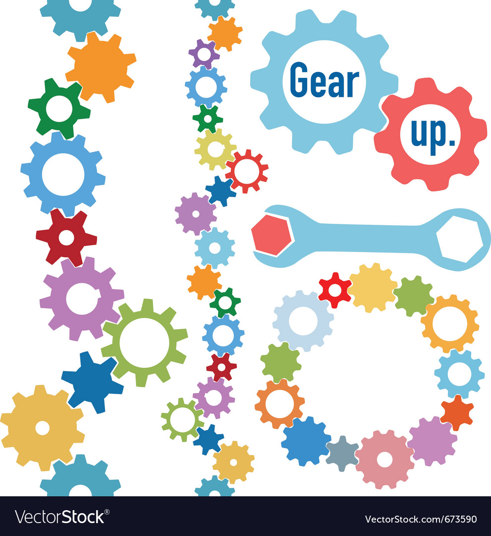 Colorful gears vector | Price: 1 Credit (USD $1)