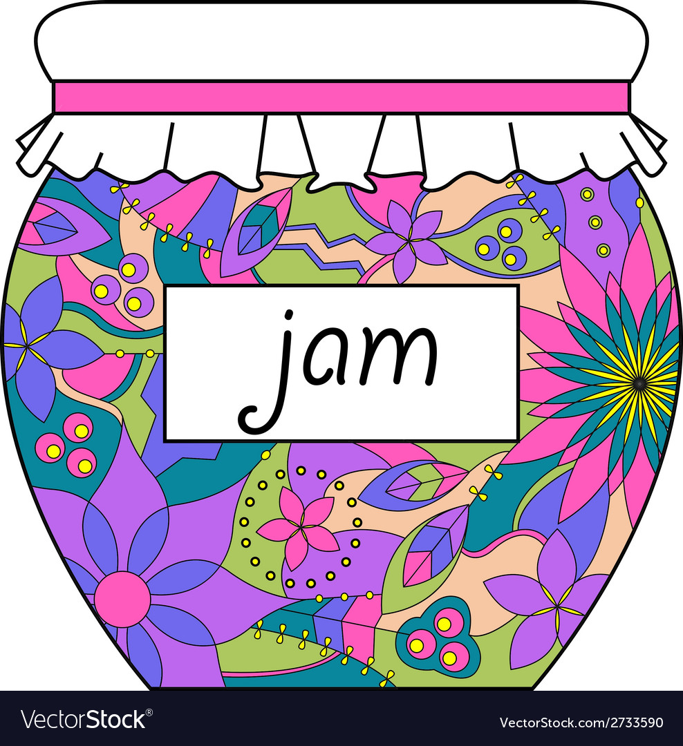 Colorful jam jar vector | Price: 1 Credit (USD $1)