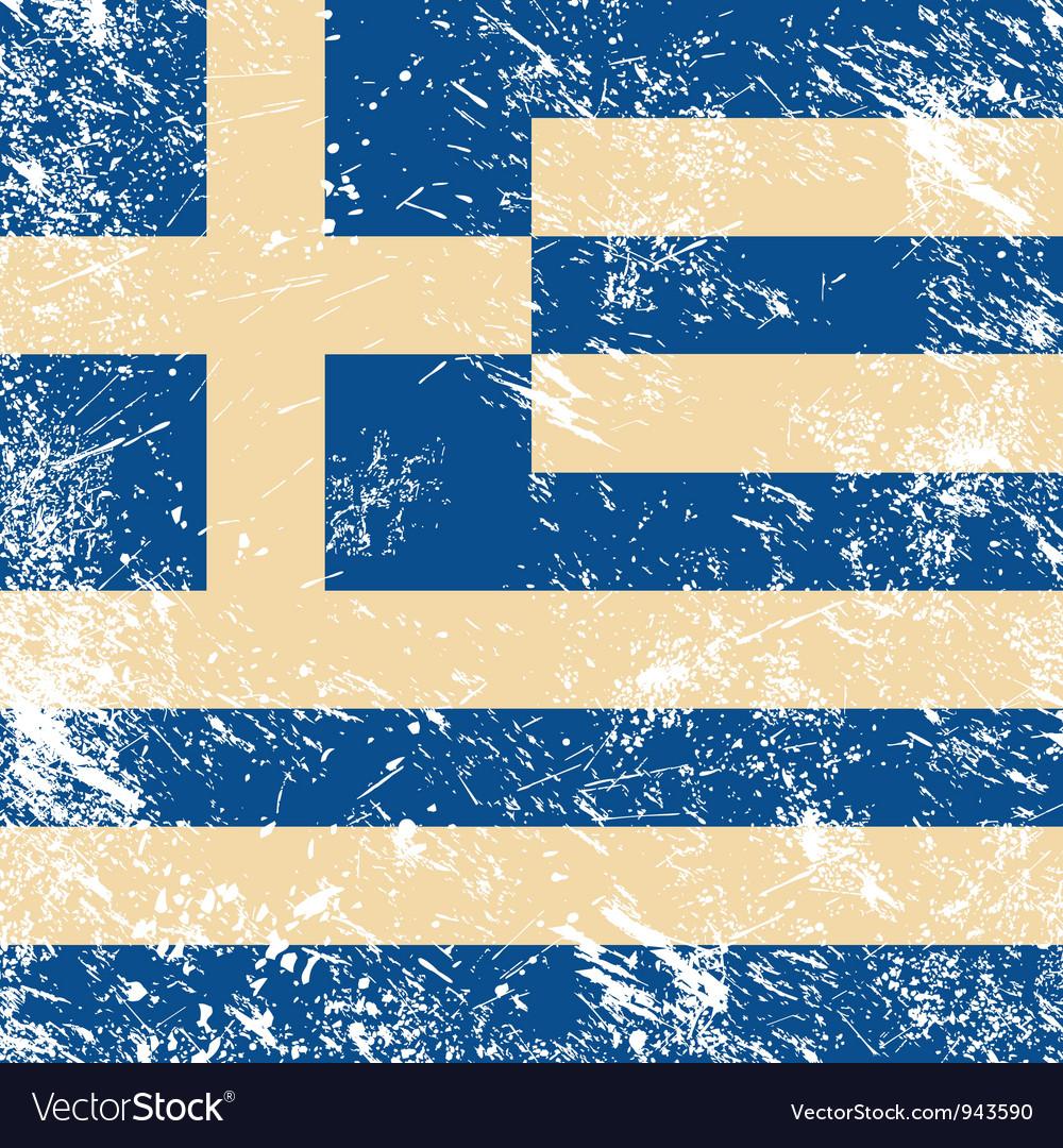 Greece flag retro vector | Price: 1 Credit (USD $1)