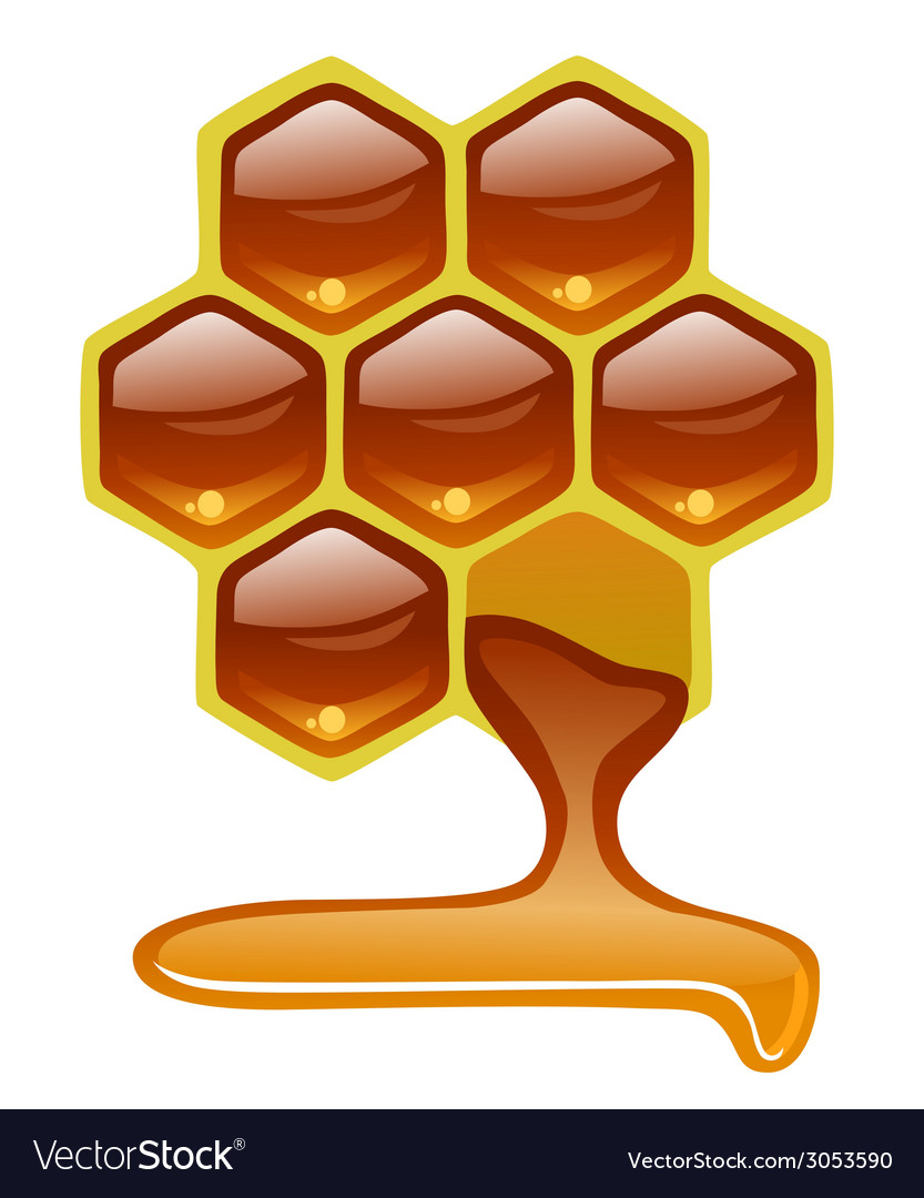 Honeycomb with honey vector | Price: 1 Credit (USD $1)