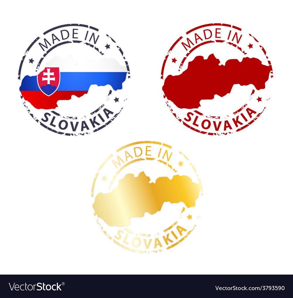 Made in slovakia stamp vector | Price: 1 Credit (USD $1)