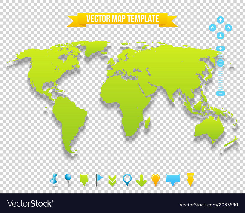 Map template vector | Price: 1 Credit (USD $1)