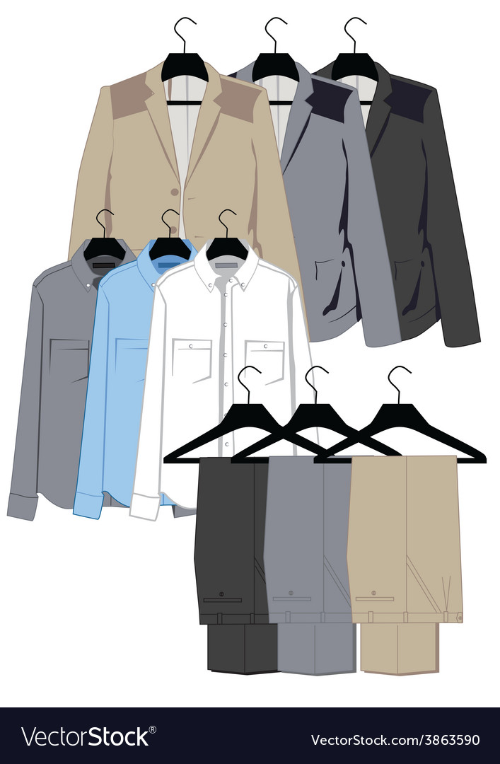 Mens clothing vector | Price: 1 Credit (USD $1)
