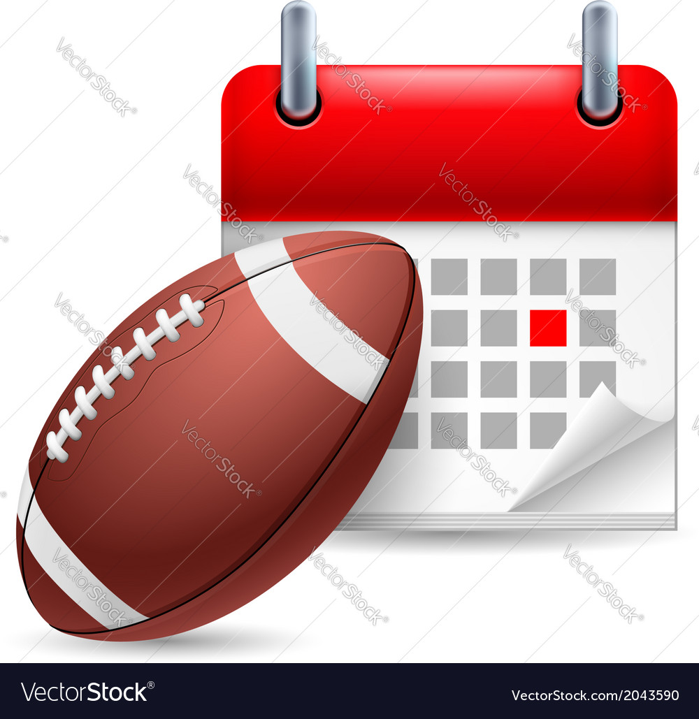 Rugby ball and calendar vector | Price: 1 Credit (USD $1)