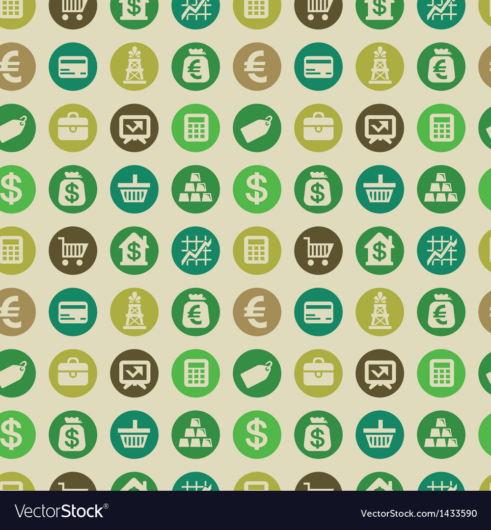 Seamless pattern with finance icons vector | Price: 1 Credit (USD $1)