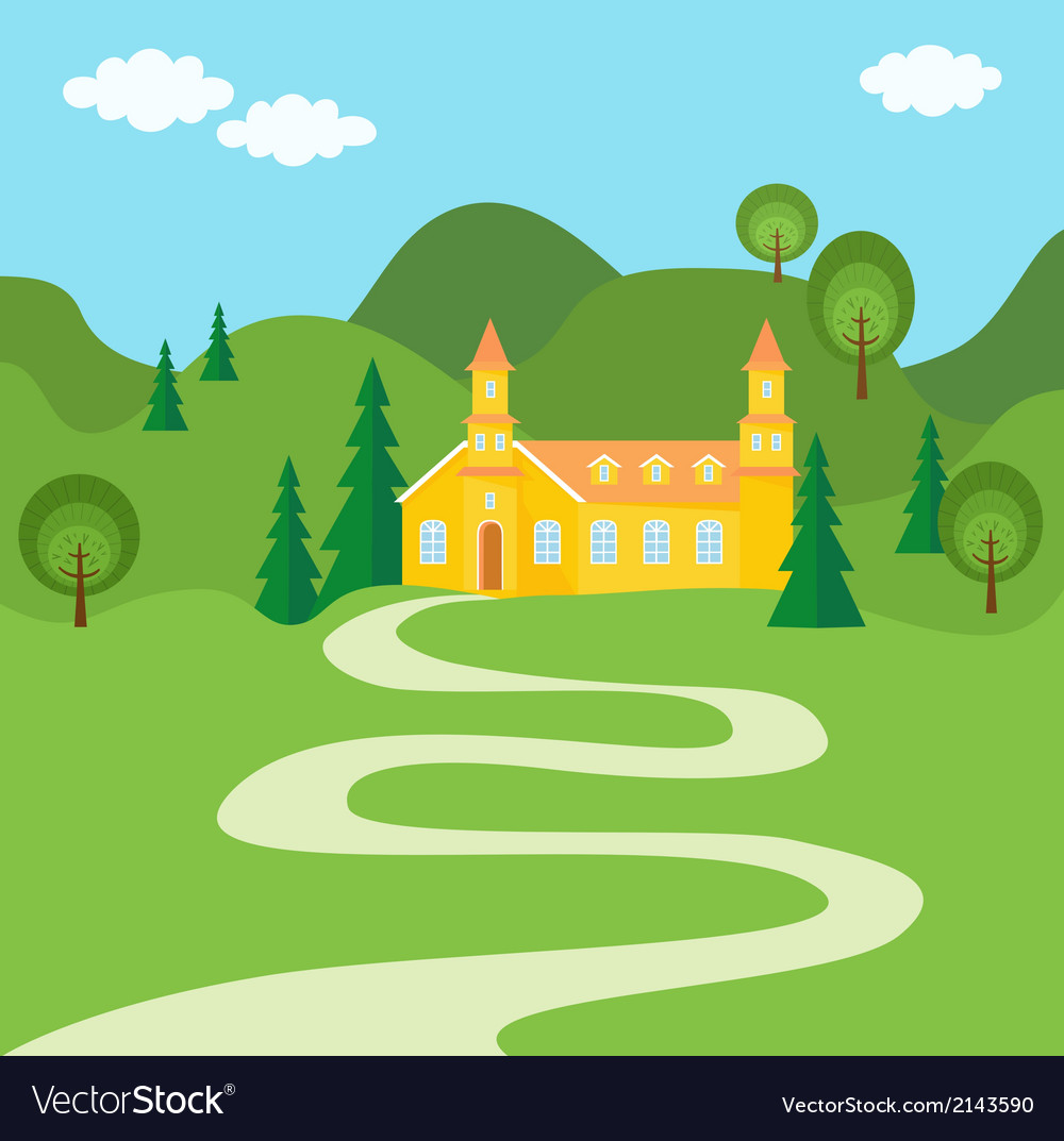 The way to home vector | Price: 1 Credit (USD $1)