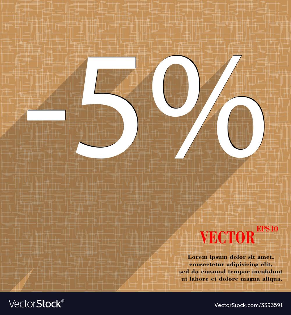 5 percent discount icon symbol flat modern web vector | Price: 1 Credit (USD $1)