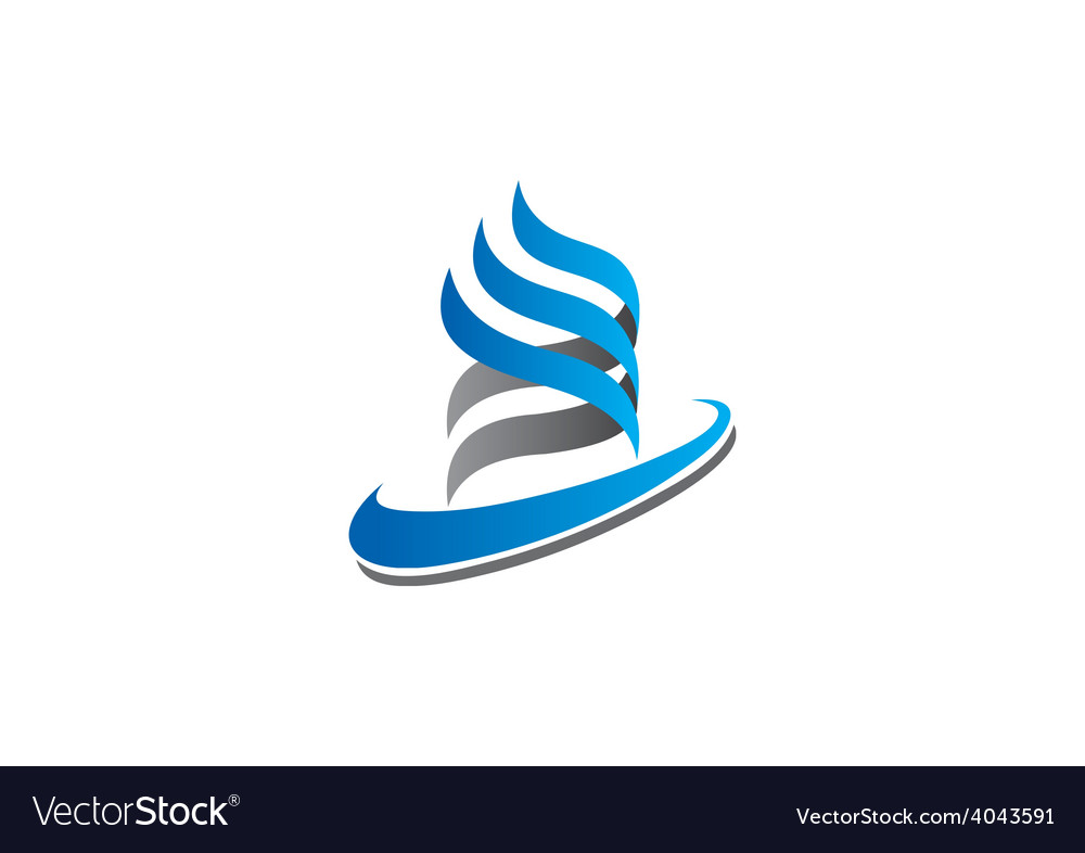 Abstract swirl ribbon business logo vector | Price: 1 Credit (USD $1)