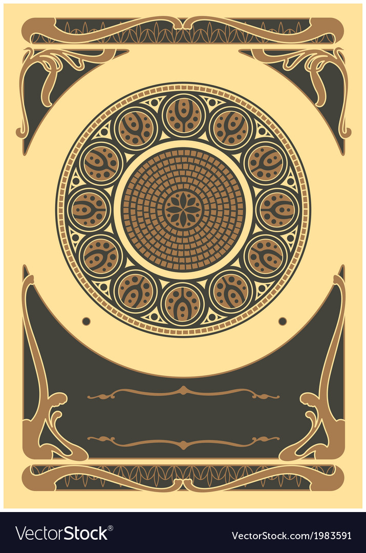 Art nouveau background and frame vector | Price: 1 Credit (USD $1)
