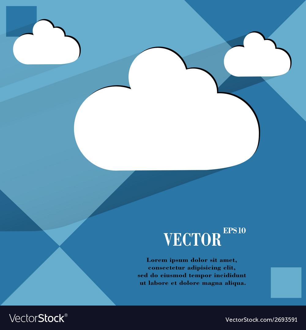 Cloud download application web icon on a flat vector | Price: 1 Credit (USD $1)