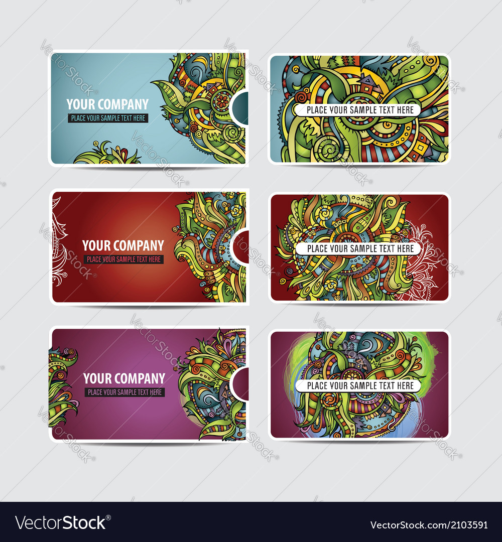 Decorative ornamental ethnic cards vector   Price: 1 Credit (USD $1)