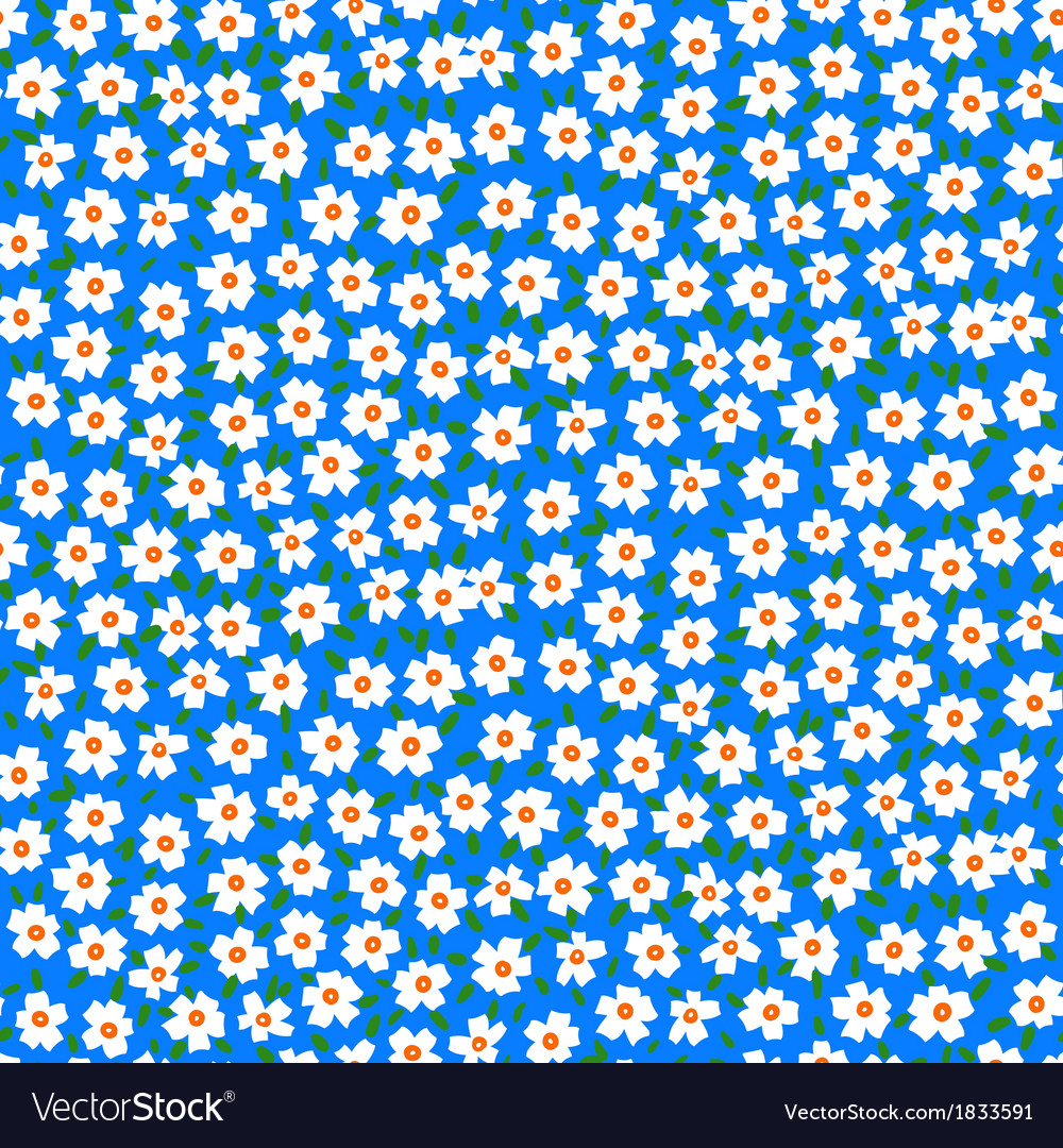 Ditsy floral pattern with forget-me-not flowers vector | Price: 1 Credit (USD $1)