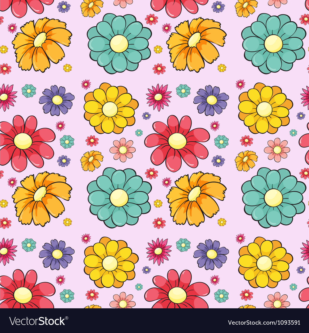Flowers seamless vector | Price: 1 Credit (USD $1)