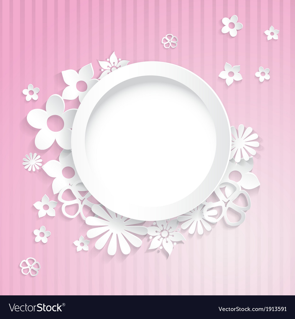 Paper flowers with ring vector | Price: 1 Credit (USD $1)
