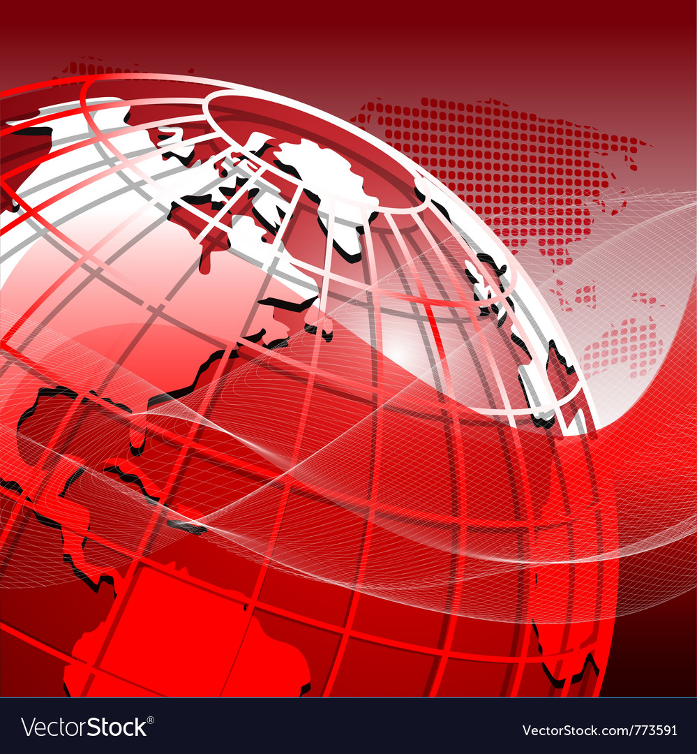 Red globe vector | Price: 1 Credit (USD $1)