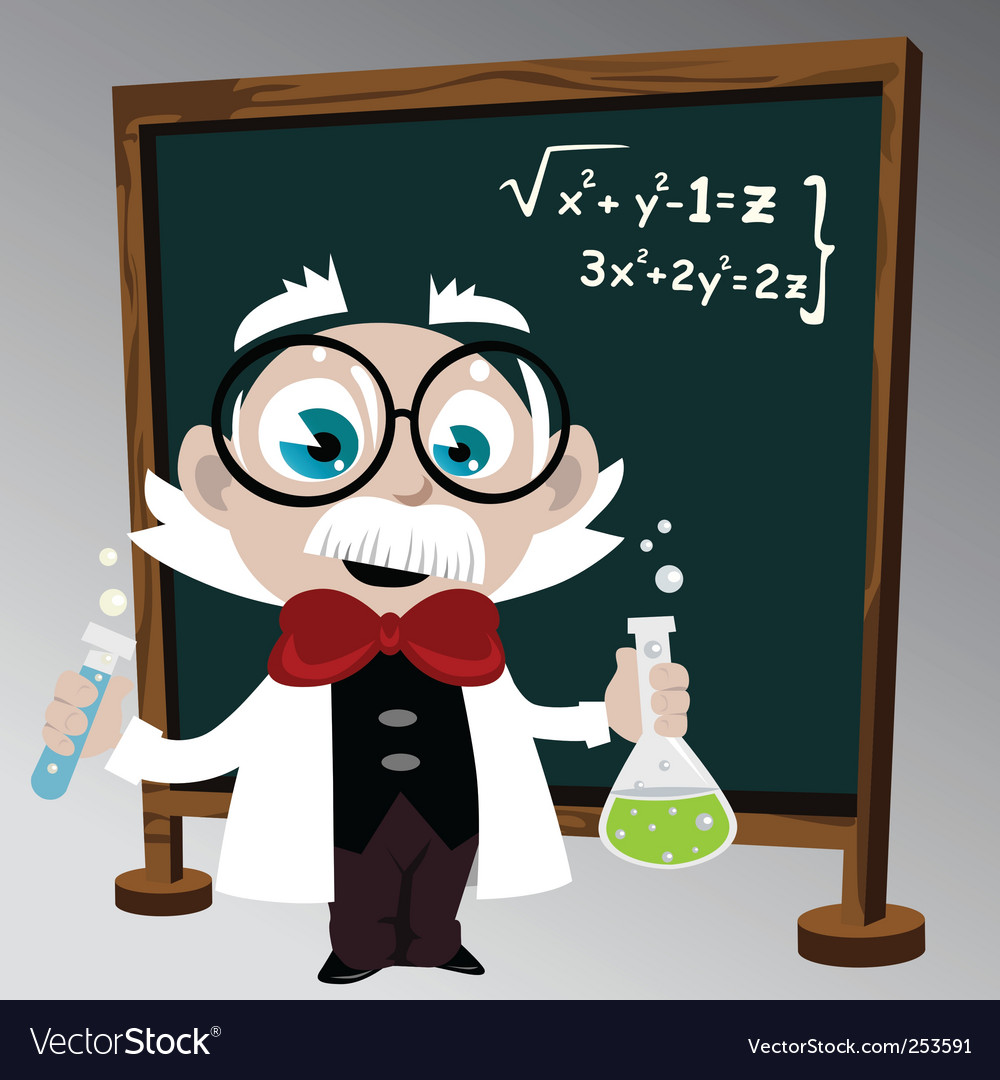 Science professor vector | Price: 1 Credit (USD $1)