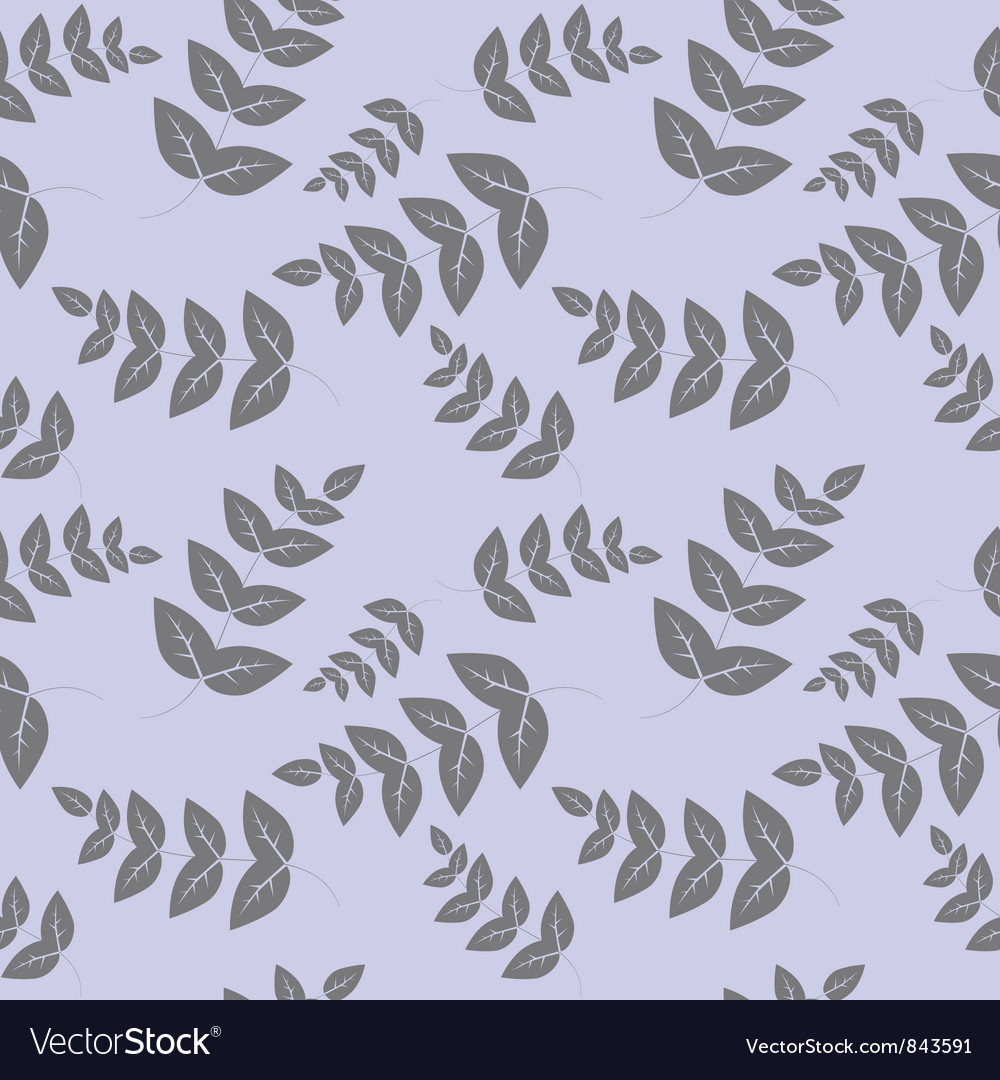 Seamless pattern branches with leaves vector | Price: 1 Credit (USD $1)