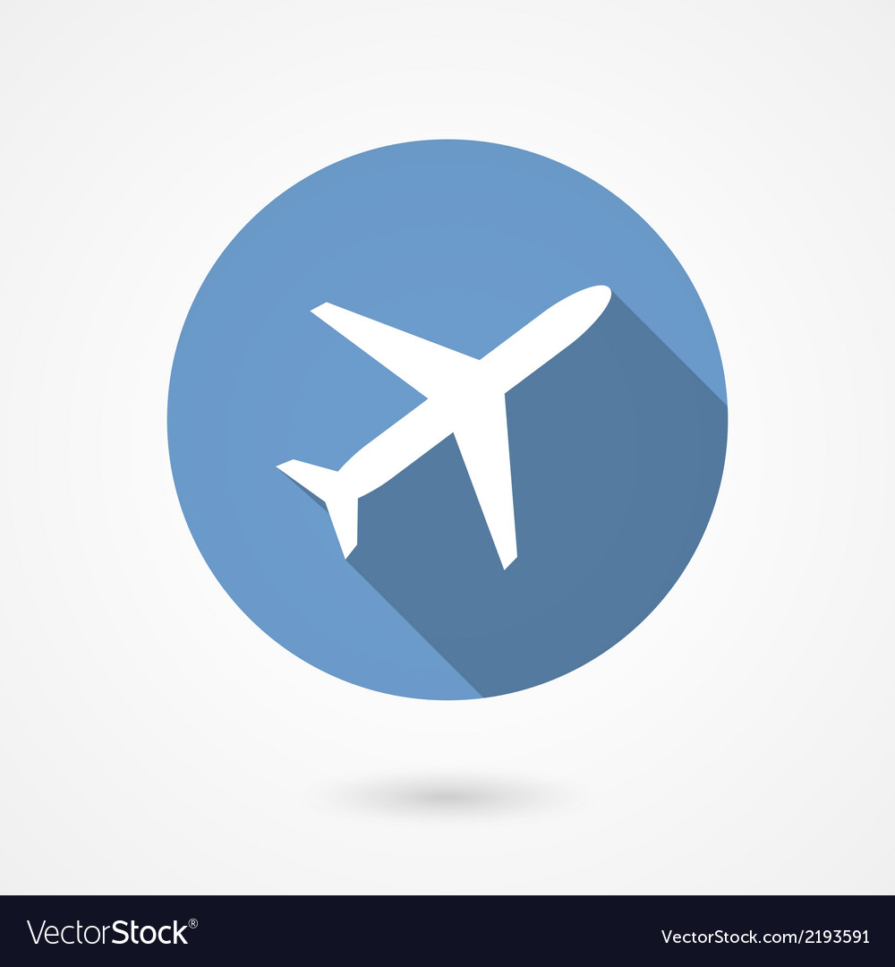 Trendy airplane icon vector | Price: 1 Credit (USD $1)