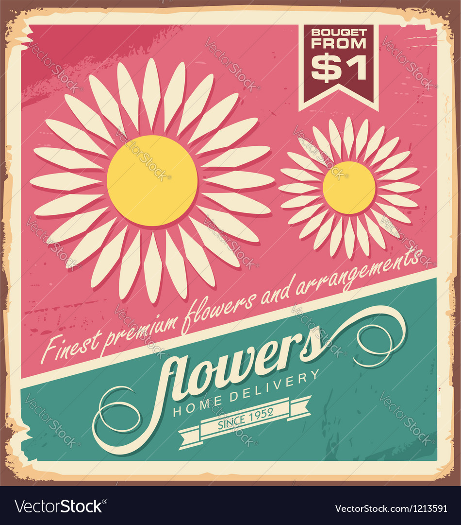 Vintage florist shop sign vector | Price: 1 Credit (USD $1)