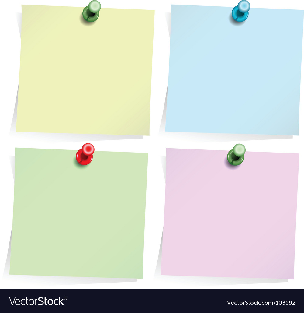 Adhesive notes isolated on white vector | Price: 1 Credit (USD $1)