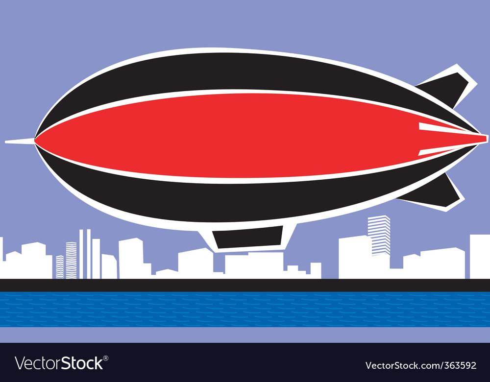 Airship vector | Price: 1 Credit (USD $1)
