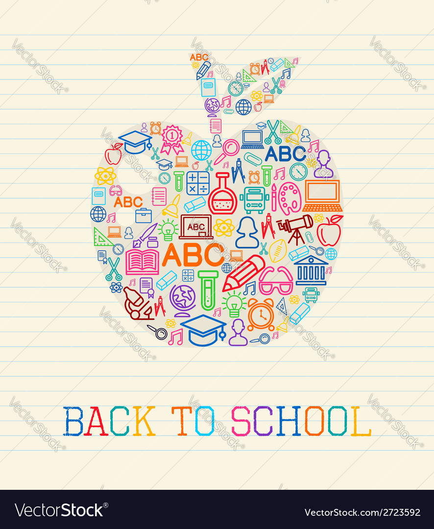 Back to school apple concept vector | Price: 1 Credit (USD $1)