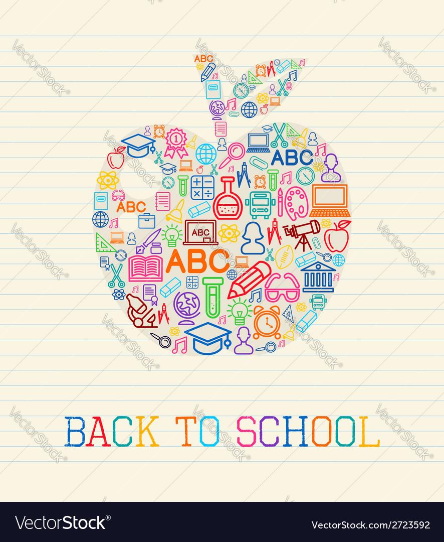 Back to school apple concept vector | Price: 1 Credit (USD $1)