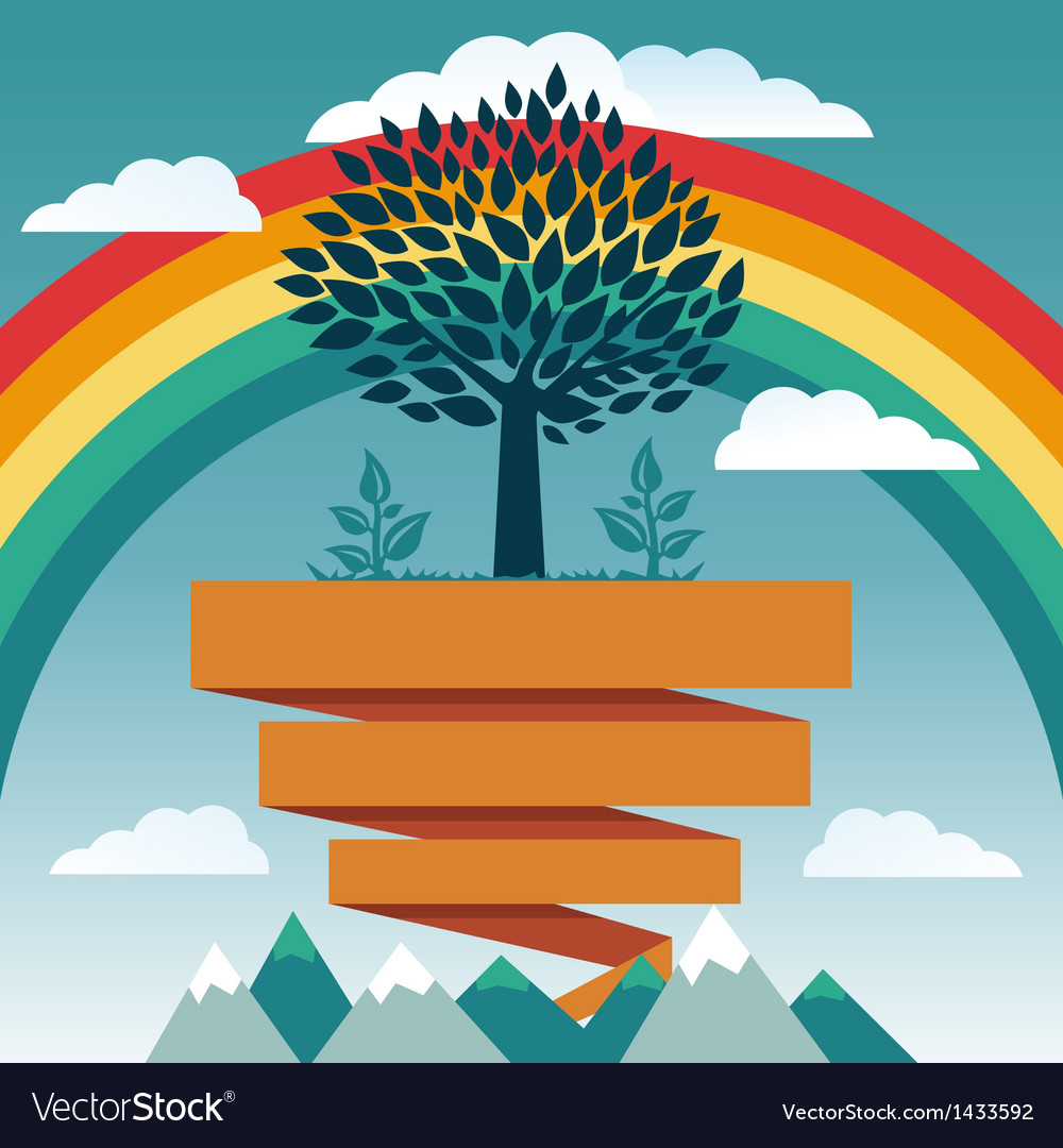 Creative concept with rainbow vector | Price: 1 Credit (USD $1)