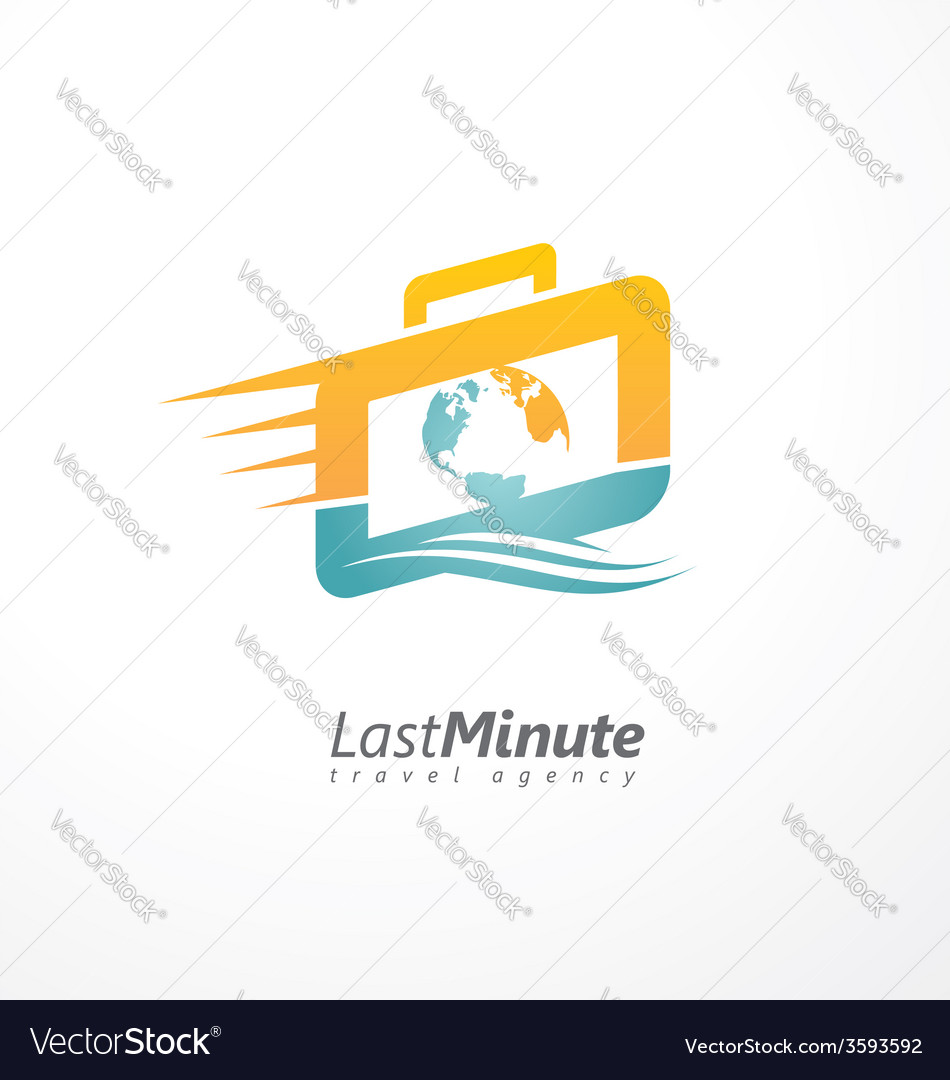Creative logo design concept for travel agency vector | Price: 1 Credit (USD $1)