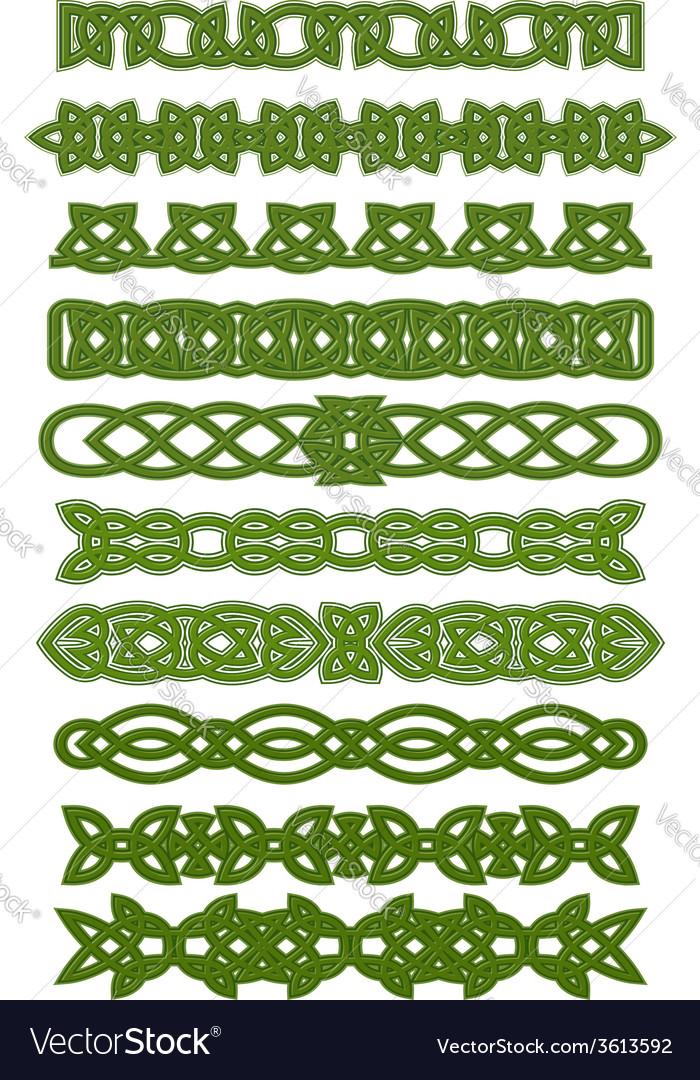 Green celtic knots ornaments vector | Price: 1 Credit (USD $1)