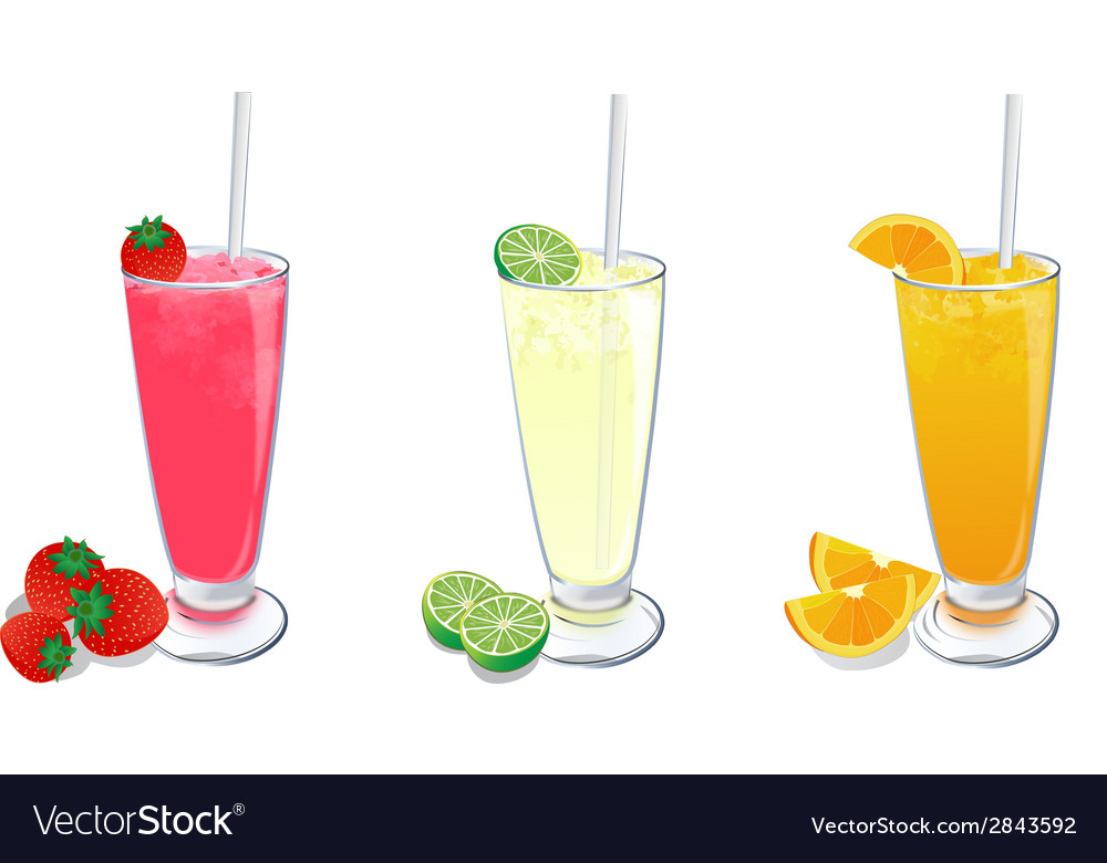 Smoothies fruit set 2 vector | Price: 1 Credit (USD $1)