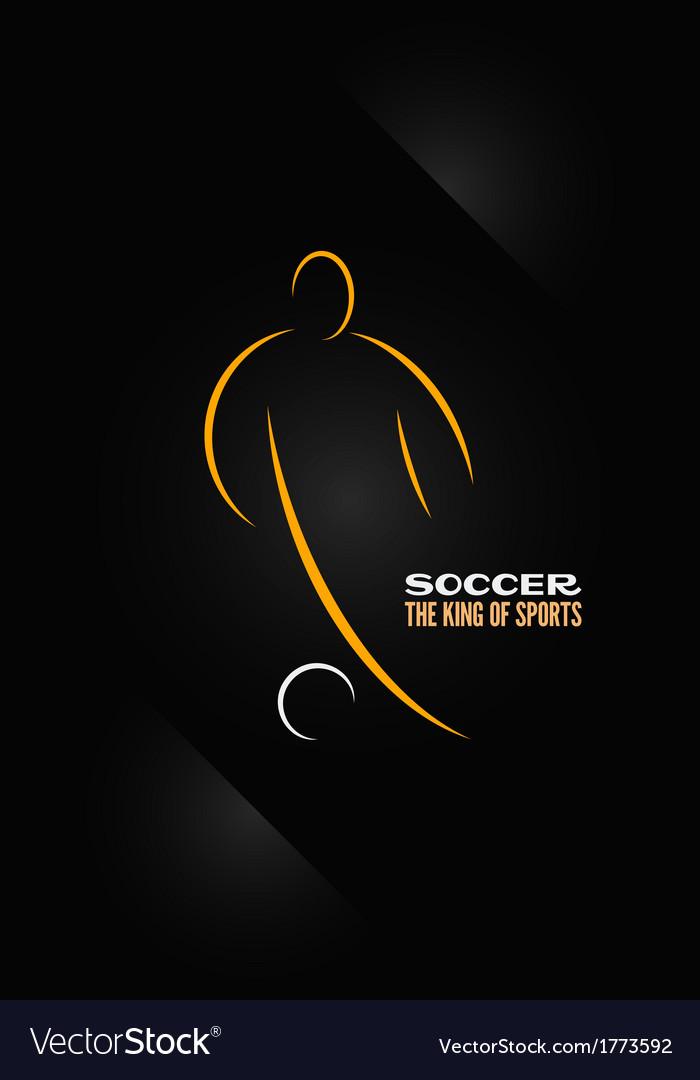 Soccer emblem symbol design background vector | Price: 1 Credit (USD $1)