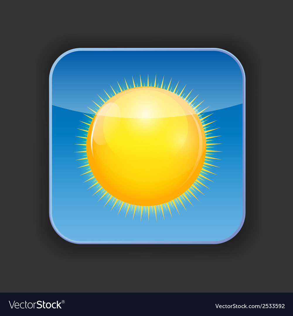 Sunny shiny button vector | Price: 1 Credit (USD $1)