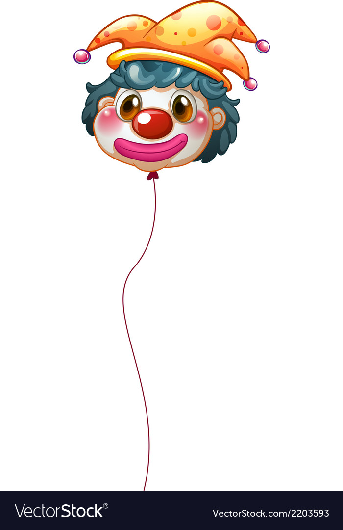 A clown balloon vector | Price: 1 Credit (USD $1)