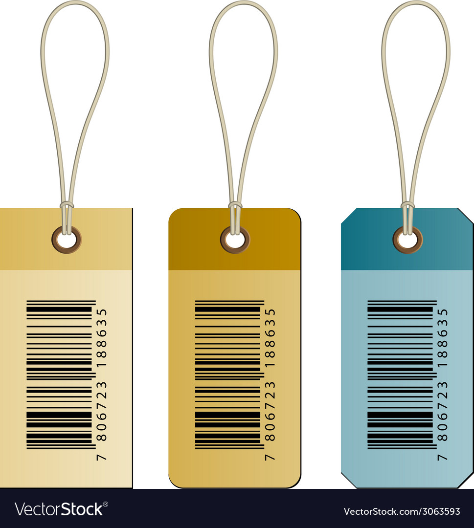 Barcode cardboard tags vector | Price: 1 Credit (USD $1)