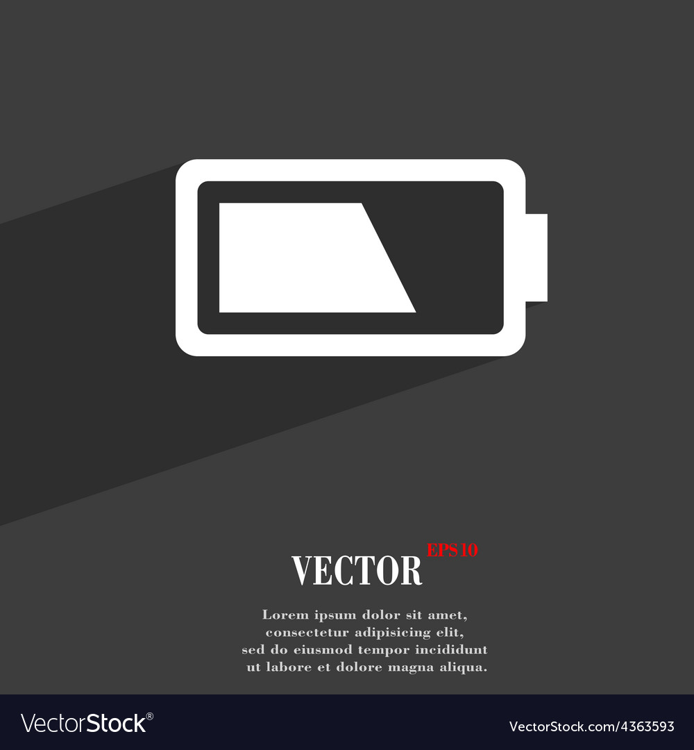 Battery half level icon symbol flat modern web vector | Price: 1 Credit (USD $1)