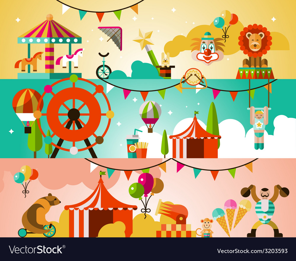 Circus performance background vector | Price: 1 Credit (USD $1)