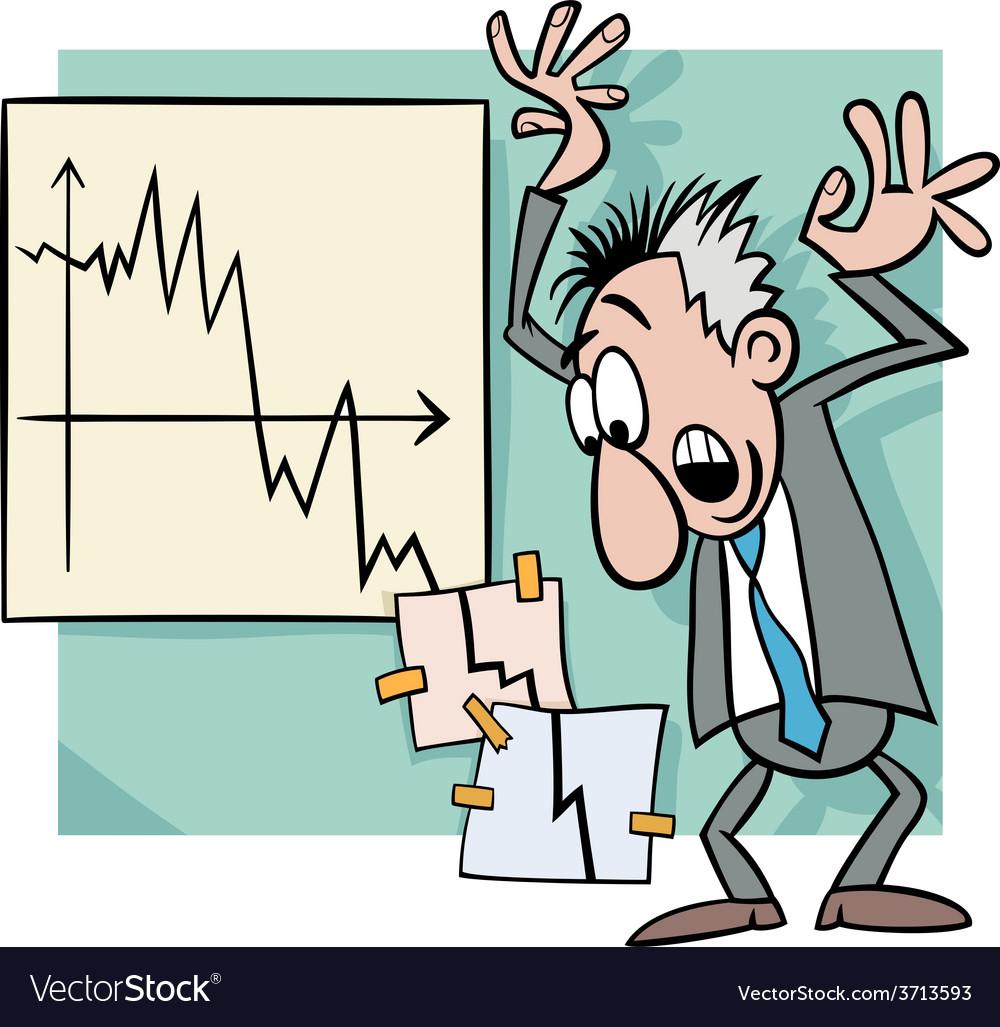 Economic crisis cartoon vector | Price: 1 Credit (USD $1)