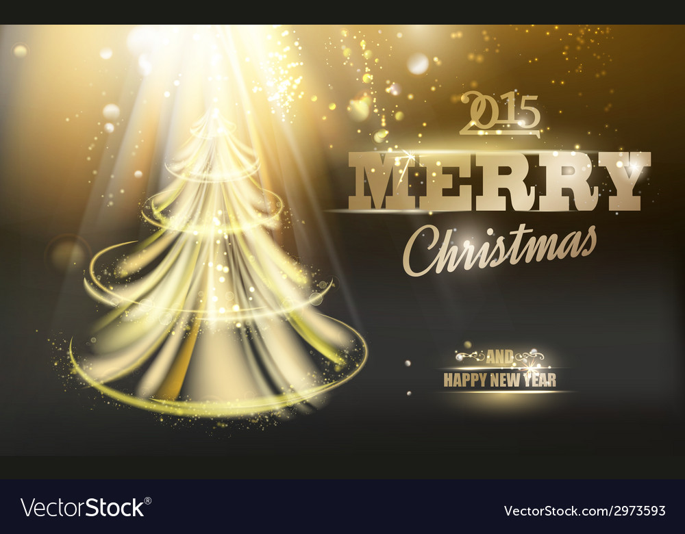 Gold fir-tree vector | Price: 1 Credit (USD $1)