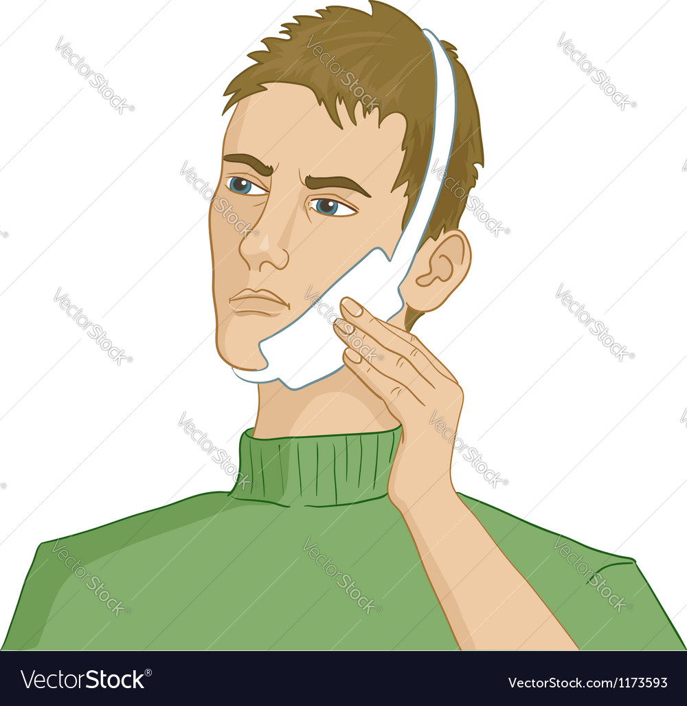 Man having teeth pain vector | Price: 3 Credit (USD $3)