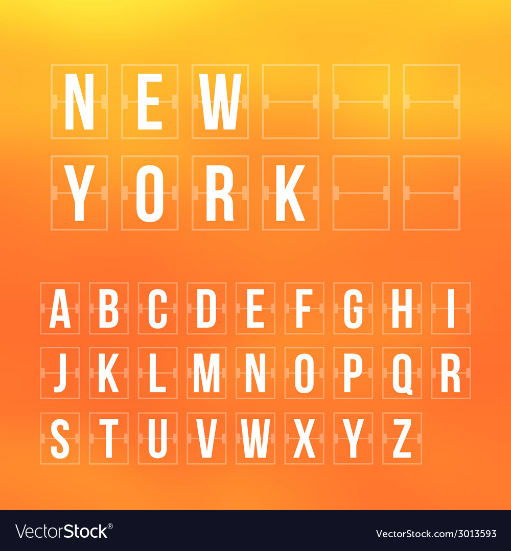 Outline scoreboard letters and symbols flat vector | Price: 1 Credit (USD $1)