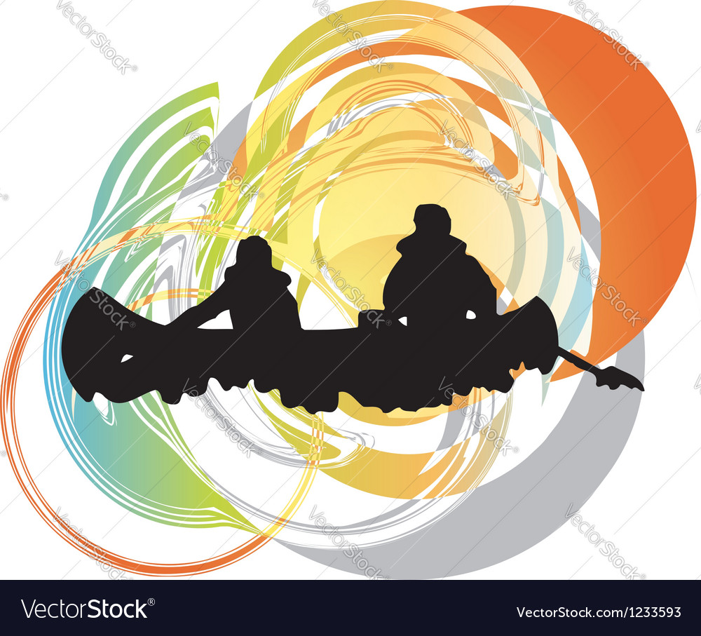 Rafting on the rapids vector | Price: 1 Credit (USD $1)