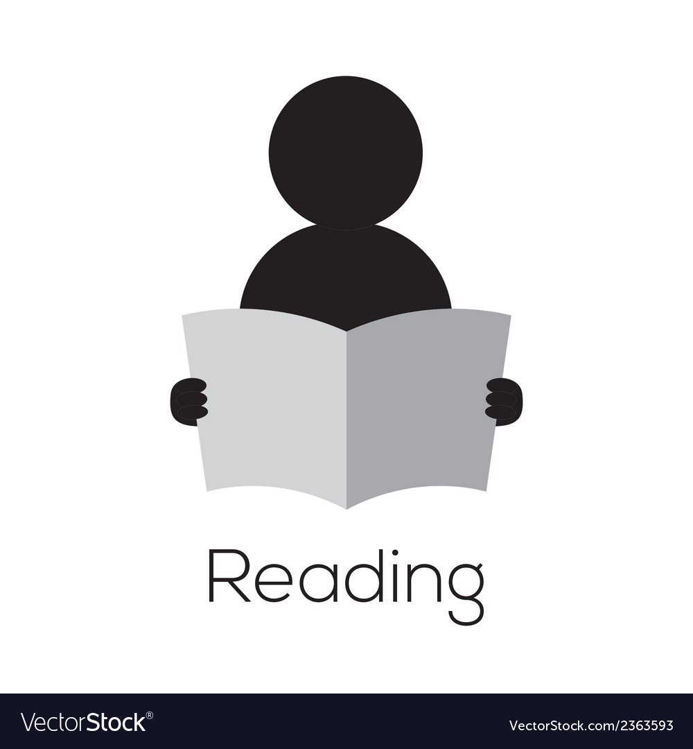Reading icon vector | Price: 1 Credit (USD $1)