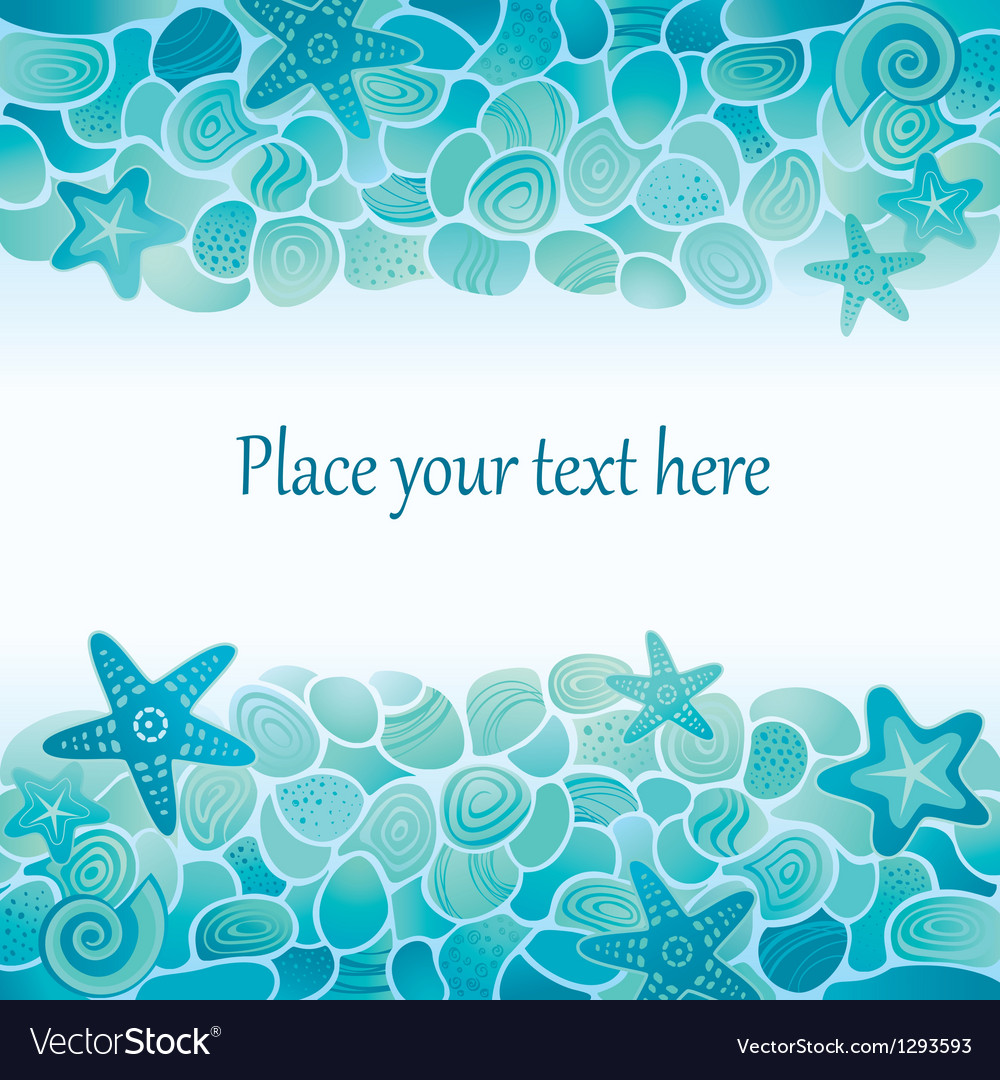 Sea floor card vector | Price: 1 Credit (USD $1)