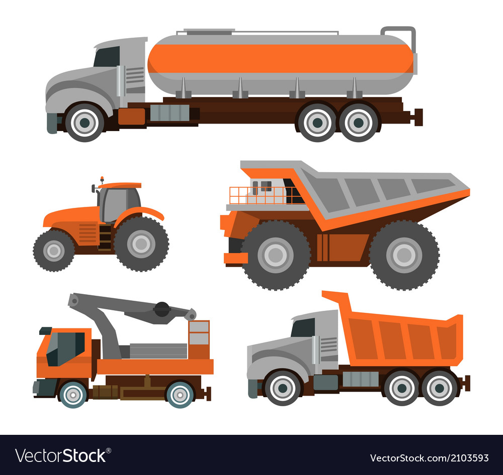 Set of trucks vector | Price: 1 Credit (USD $1)