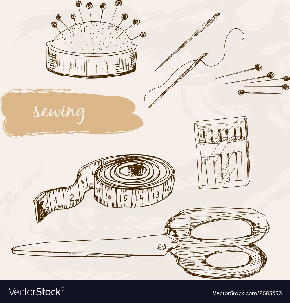 Sewing vector | Price: 1 Credit (USD $1)
