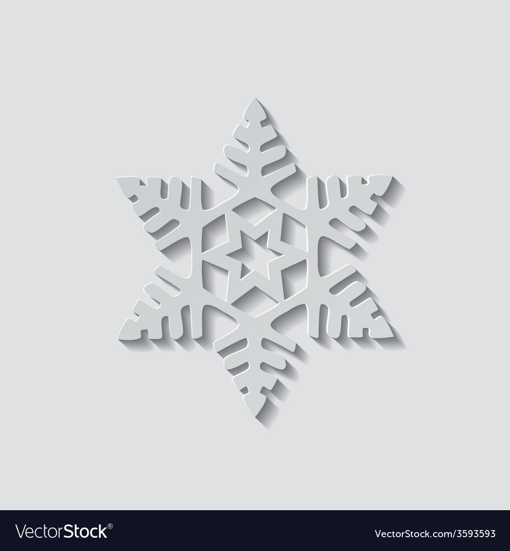 Snowflake shape icon vector | Price: 1 Credit (USD $1)